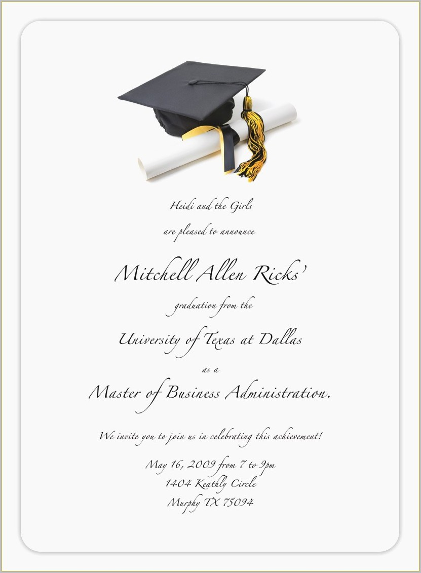 graduation invitation card maker free templates