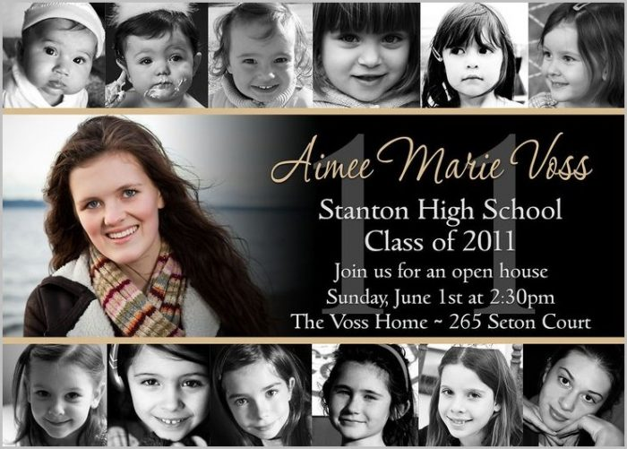 Graduation Invitation Templates Walmart