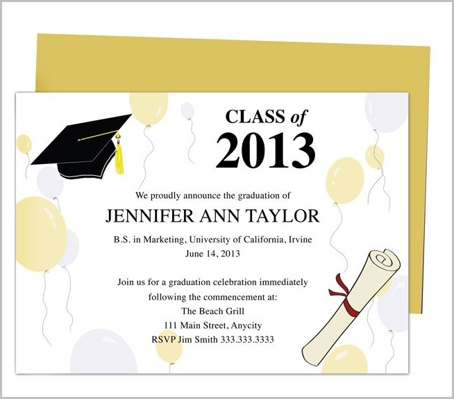 Graduation Invitation Templates With Photo