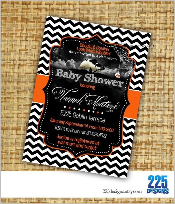 Halloween Baby Shower Invitation Template Free