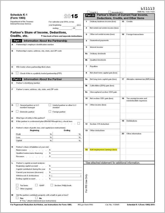 Irs Form 1040 Box 14 Code A