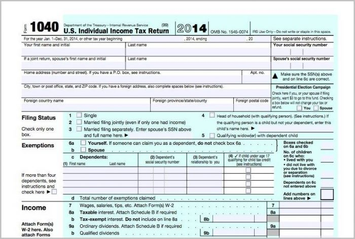 Irs Form 1040 Contact Number