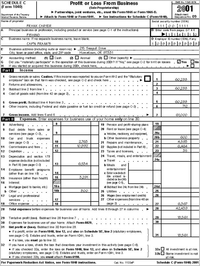 Irs Form 1040 Itemized Deductions 2017