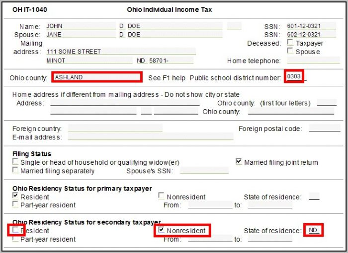 Irs Form 1040 Married Filing Separately Instructions