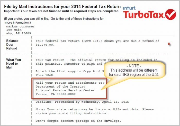 Irs Form 1040 Refund Mailing Address