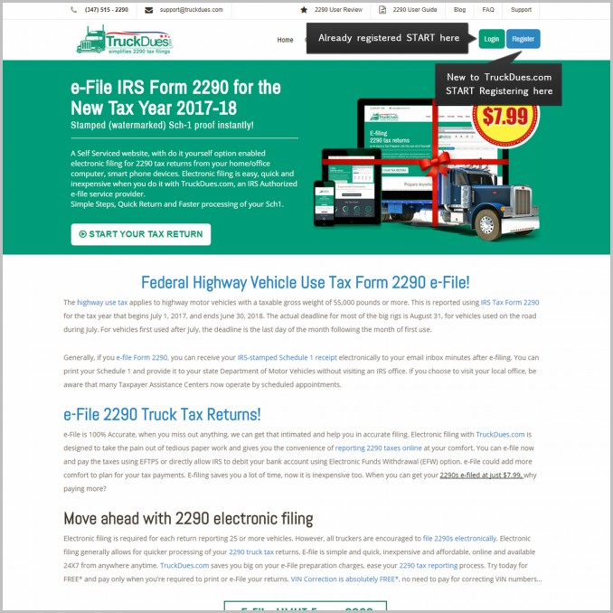 Irs Form 2290 Electronic Filing