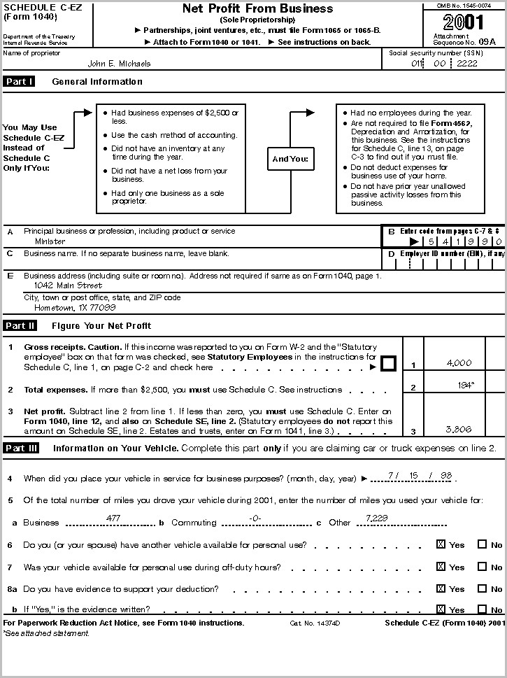 Irs Forms 1040 C Ez