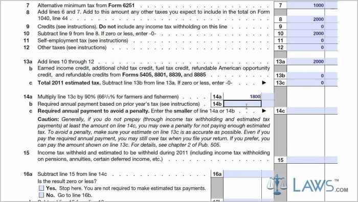 Irs Forms 1040 Es