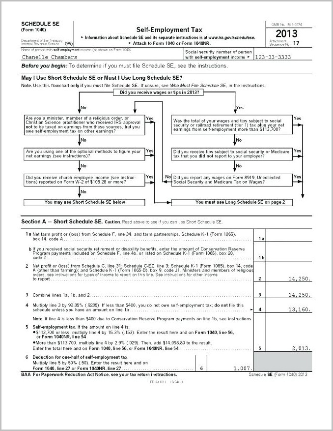 Irs Forms 1040 Social Security Worksheet