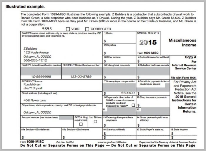 Irs Tax Form 1099 Misc 2016