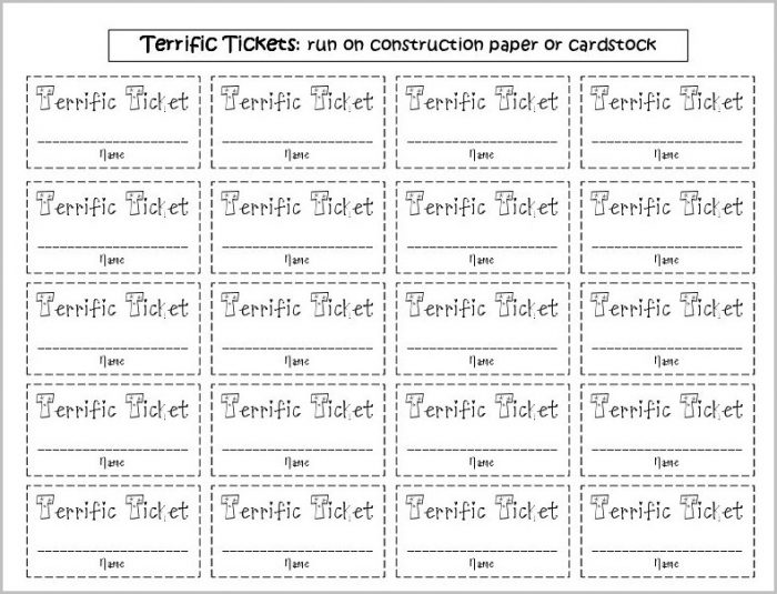 Lottery Raffle Ticket Template