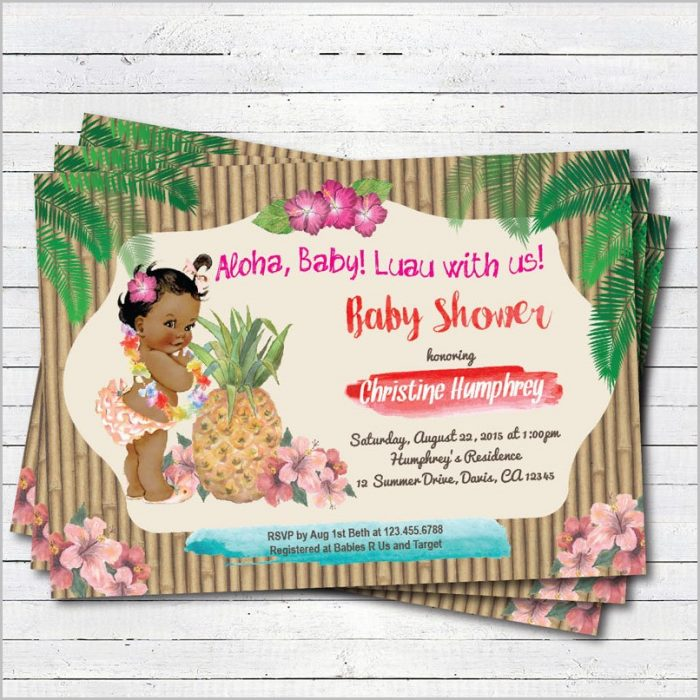 Luau Baby Shower Invitations Templates