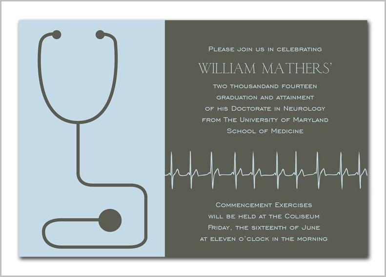 Medical Graduation Invitation Templates