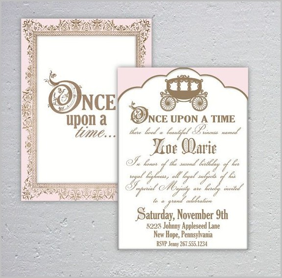 Once Upon A Time Baby Shower Invitation Template
