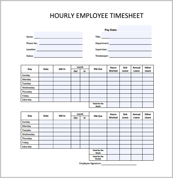 Pay Stub Template For Excel
