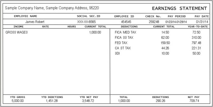 Pay Stub: Create & Download For Free | Formswift With Independent Contractor Pay Stub Template