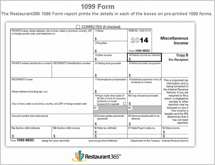 Printable 1099 Form 2014