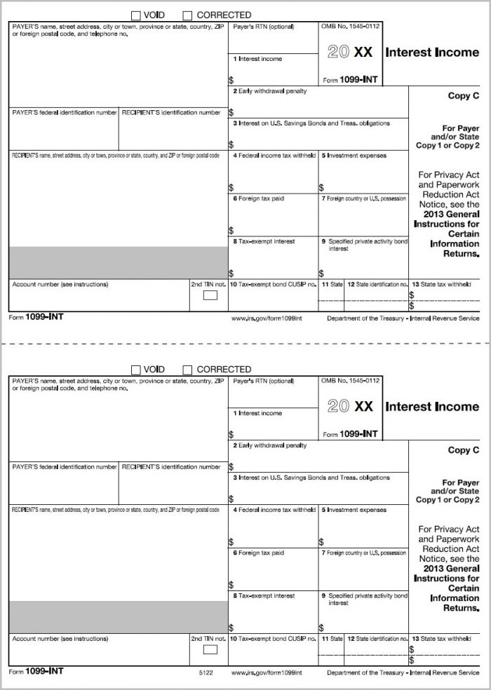 Printable 1099 Form 2018 Form Resume Examples