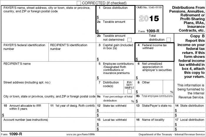 Printable 1099 R Form