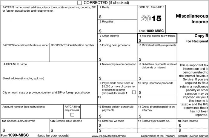 Printable 1099 Form 2015 Timiz.conceptzmusic.co For 2015 Printable 1099 Tax Form