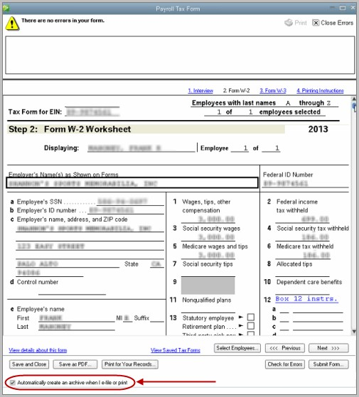 Printable W2 Forms For Employment