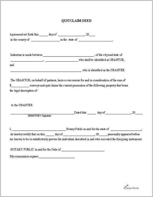 Quick Claim Deed Form