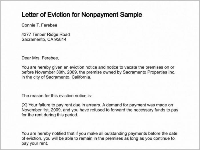 Rent Arrears Eviction Notice Template