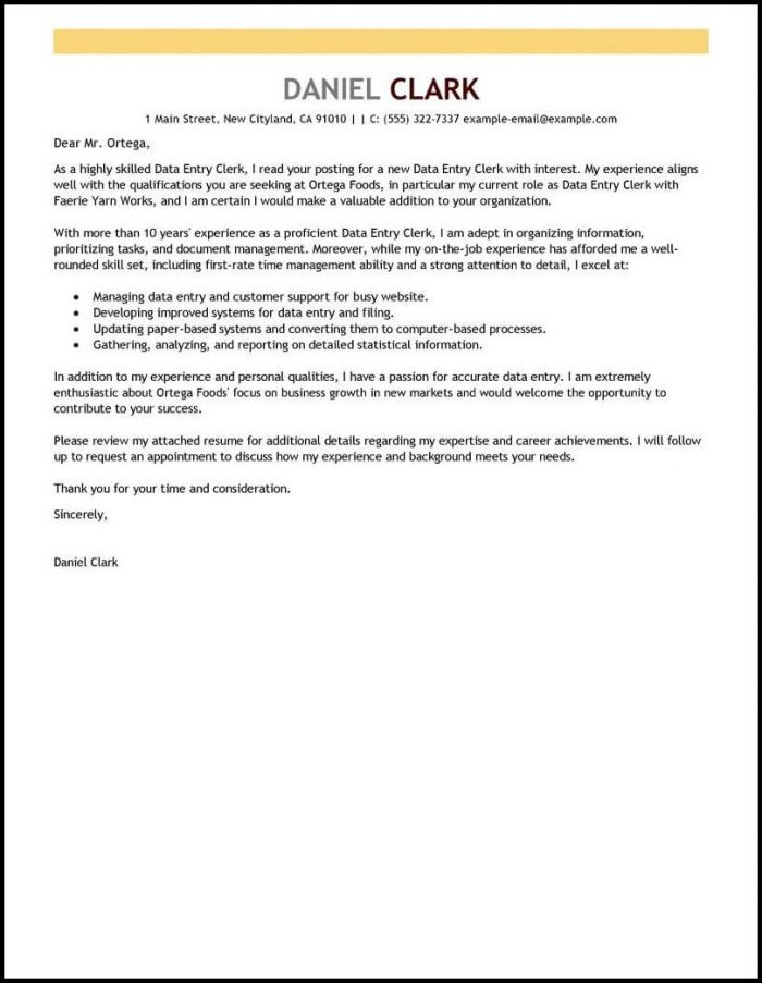 Resume Cover Letter Templates