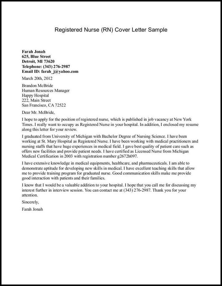 Rn Resumes And Cover Letters Cover Letter Resume Examples