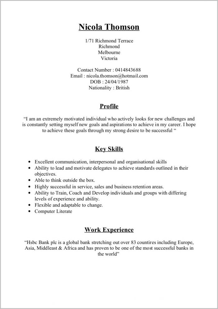 Sample Cv Cover Letters Uk