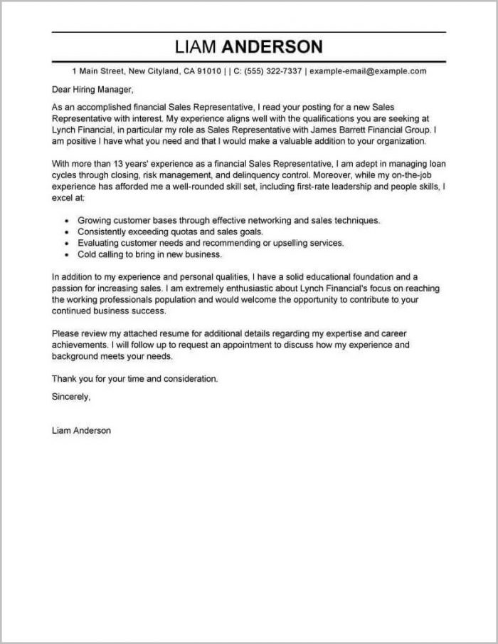 Samples Of Cover Letter For Job Resume