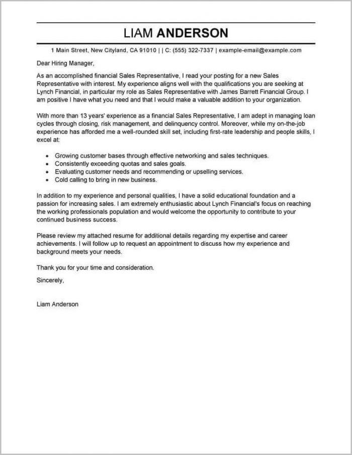 Samples Of Cover Letter For Job Resume