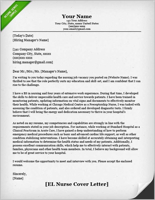 Samples Of Resumes And Cover Letters