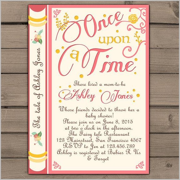 Storybook Baby Shower Invitation Template