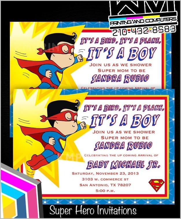 Superman Baby Shower Invitation Template