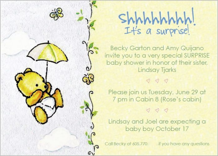 Surprise Baby Shower Invitation Templates
