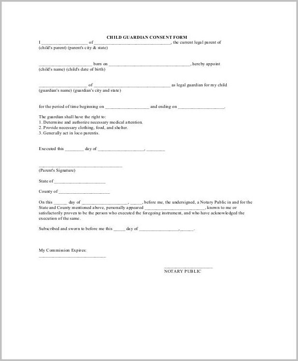 Temporary Guardianship Form Arkansas