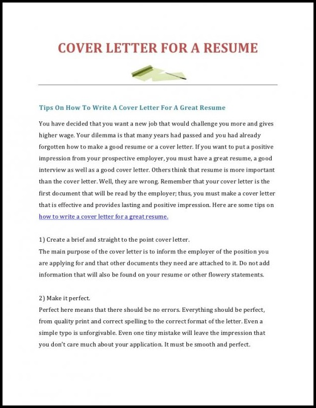 Tips On Resumes And Cover Letters