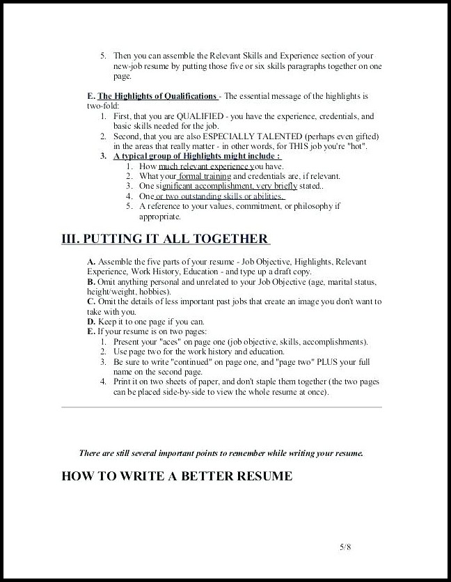 Writing Winning Resumes And Cover Letters Cover Letter Resume Examples
