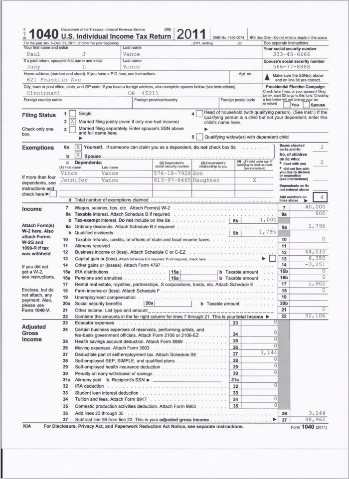 1040ez 2012 Tax Form Instructions