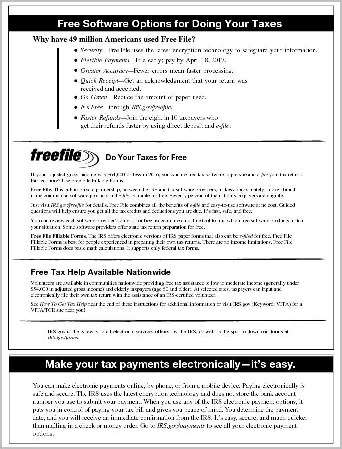 1040ez Tax Form 2017
