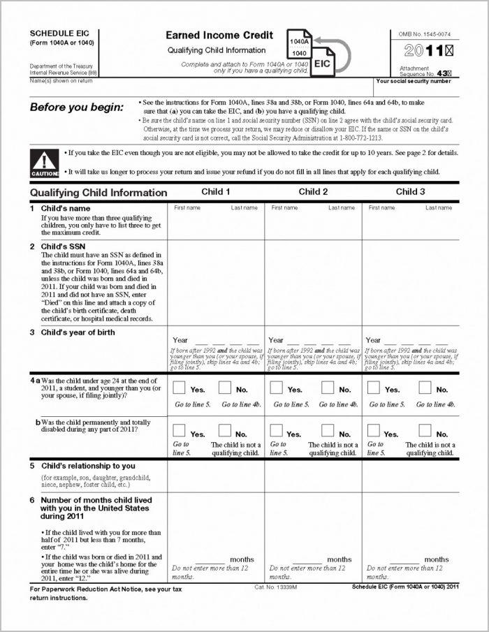 1040ez Tax Form Example