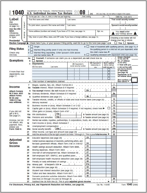 1040ez Tax Form Instructions Pdf