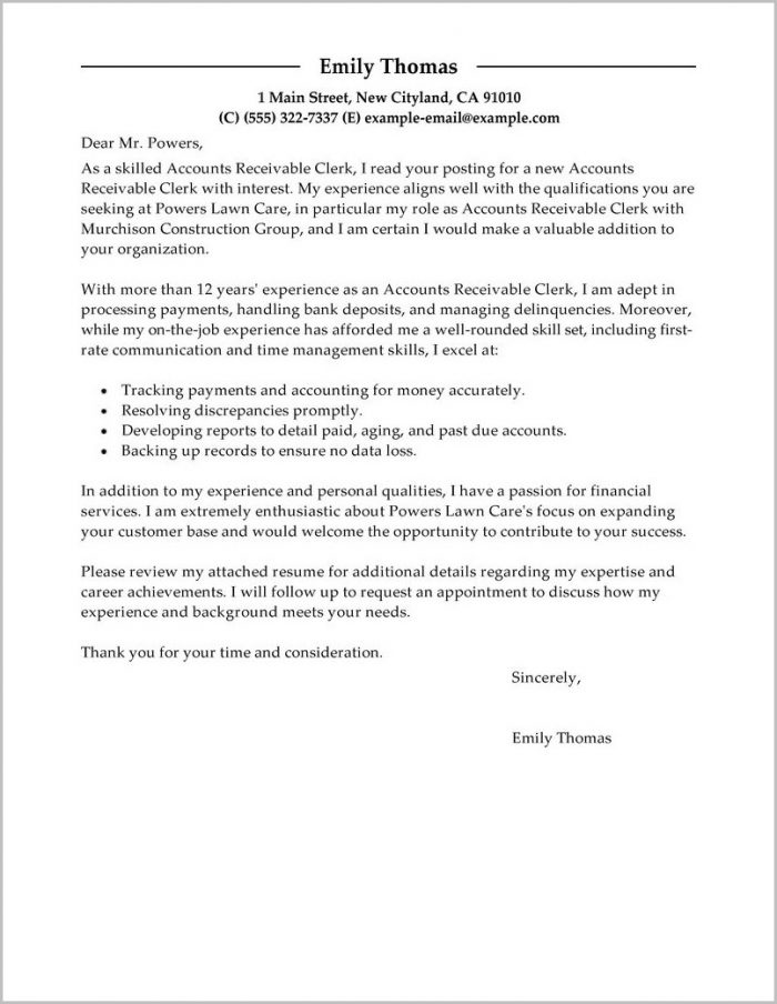 accounts payable cover letter australia cover