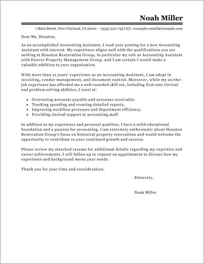 Accounts Payable Officer Cover Letter Sample