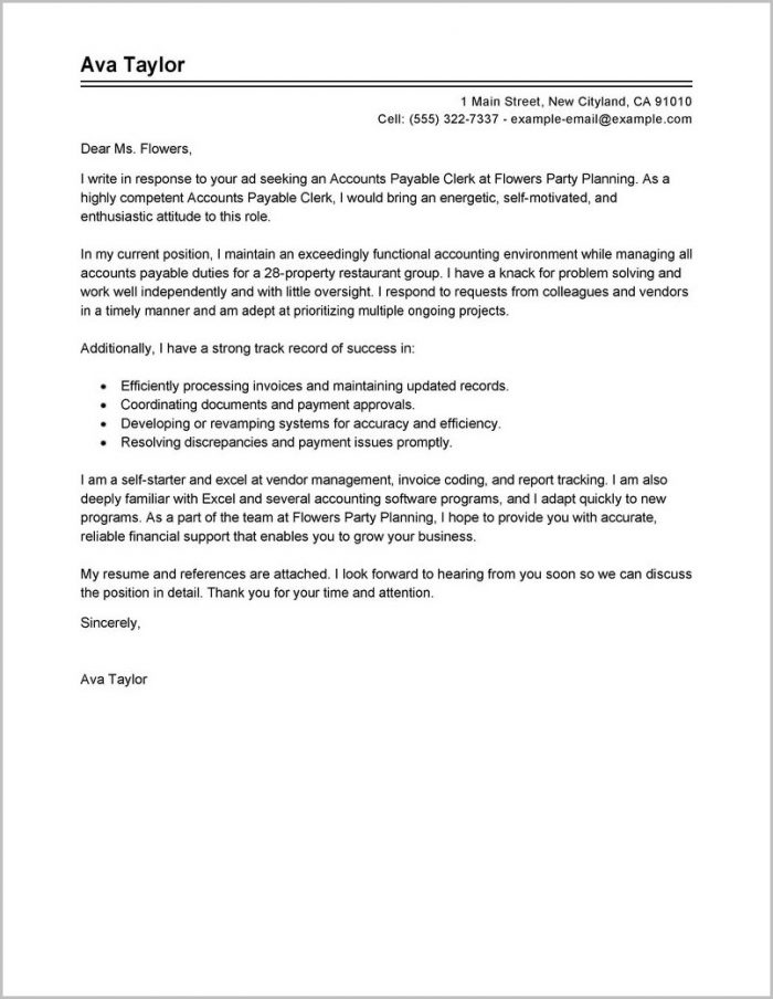 accounts payable coordinator cover letter examples cover