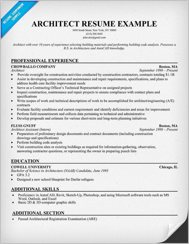 Architect Resume Templates For Microsoft Word