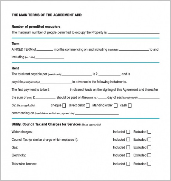 Assured Shorthold Tenancy Agreement Template Word Free
