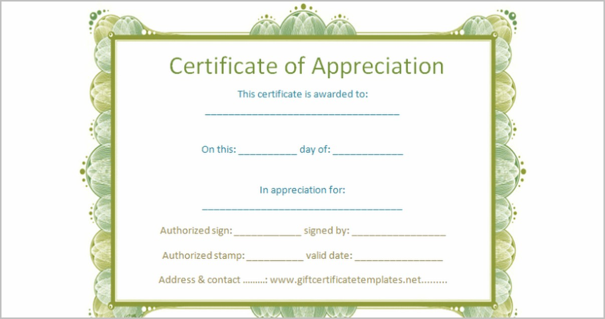 Award Certificate Template Google Docs