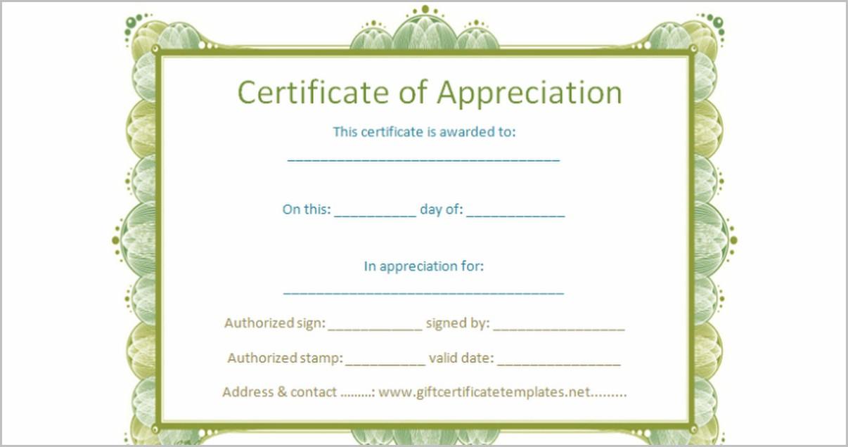 Award Certificate Template Google Docs